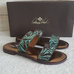 New Patricia Nash Flair Leather Sandals
